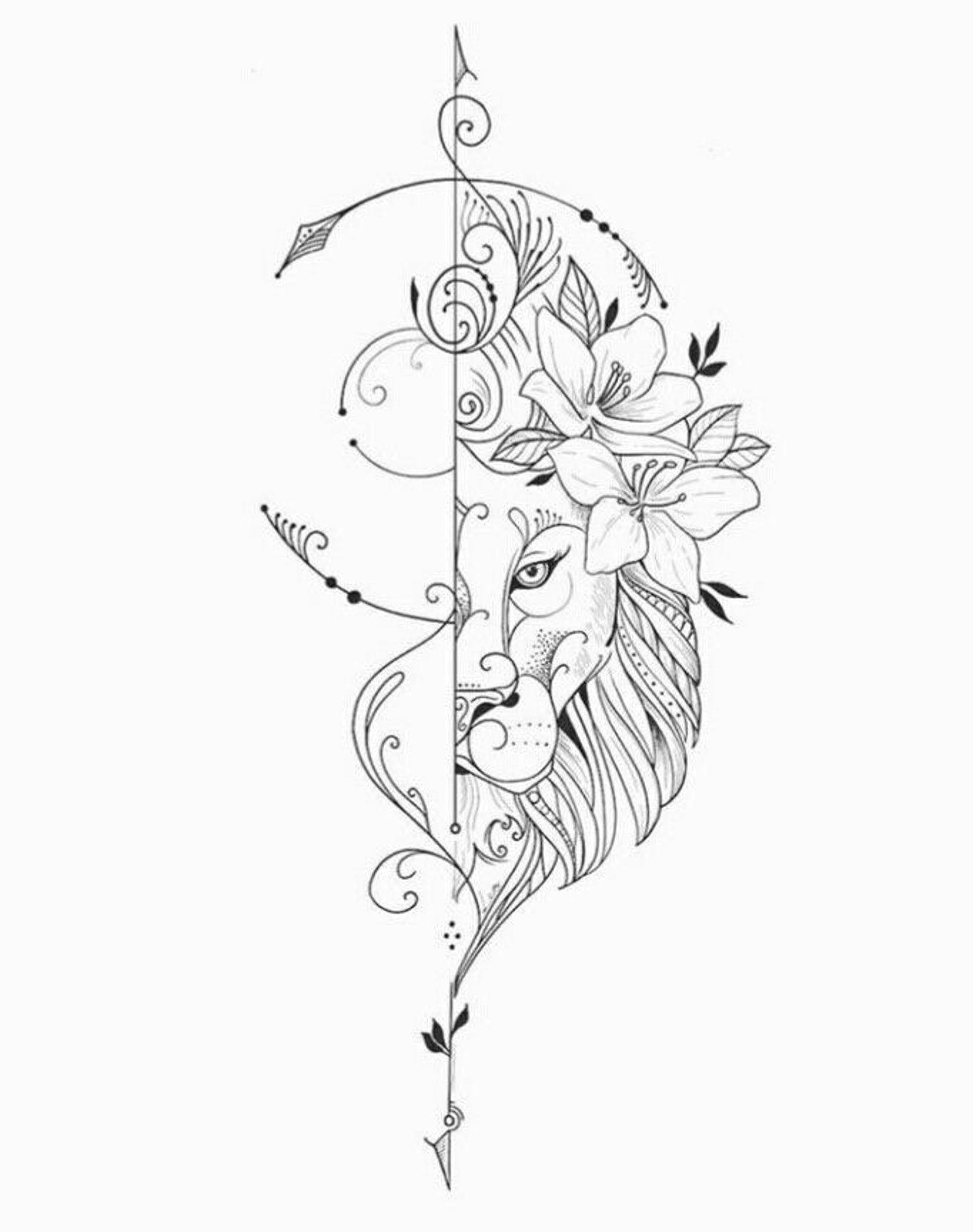 Lion tattoos  Inspiration Life  Tattoo  Love Tattoos  | Etsy