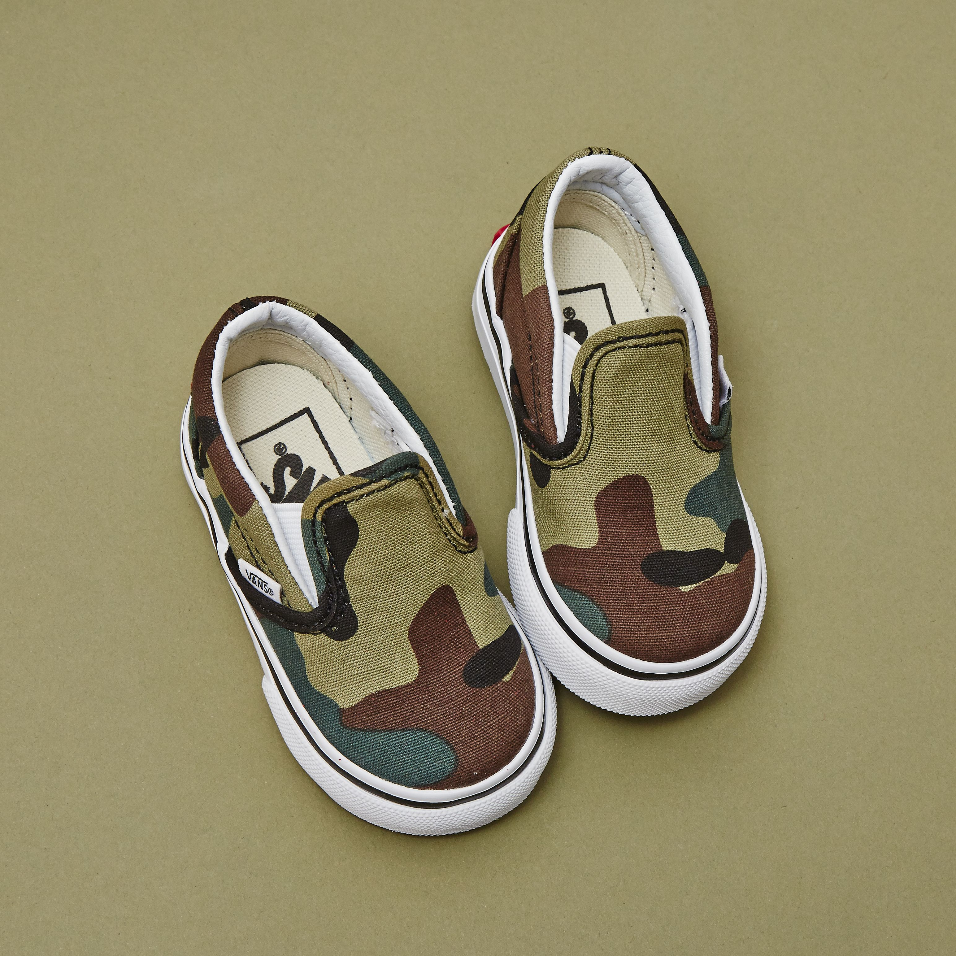 Vans Slip On Toddler Woodland Camo Shoes