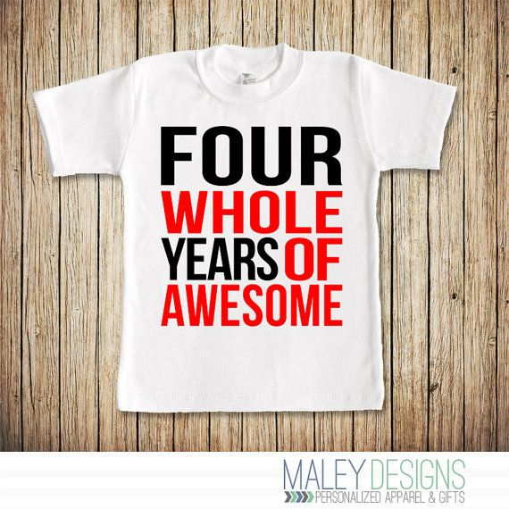 4th Birthday Shirt Boy Fourth 4 Boys