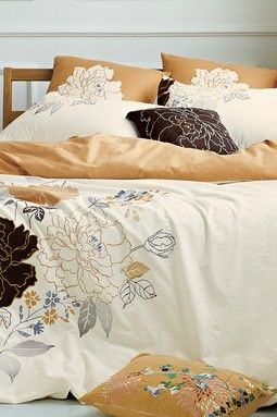 Flower Burst Duvet Cover - Ivory