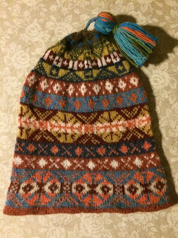 Traditonal Fairsle Hat Fisherman's Kep by YoEweMakes on Etsy ...