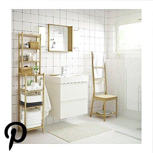 IKEA RAGRUND Bamboo Chair with towel rack IKEA RAGRUND Bamboo Chair with towel rack