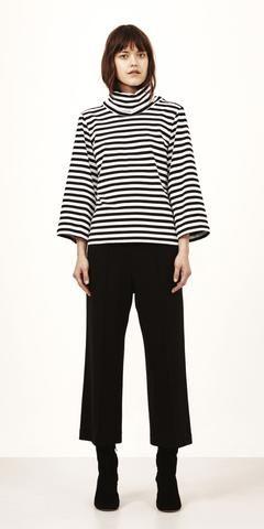 MARIMEKKO TASSA TOP - BLACK, WHITE  #stripes #stripe #preppy #classic #blackandwhite #black #white #tops #hip #marimekko #pirkkofinland #pirkkoseattle