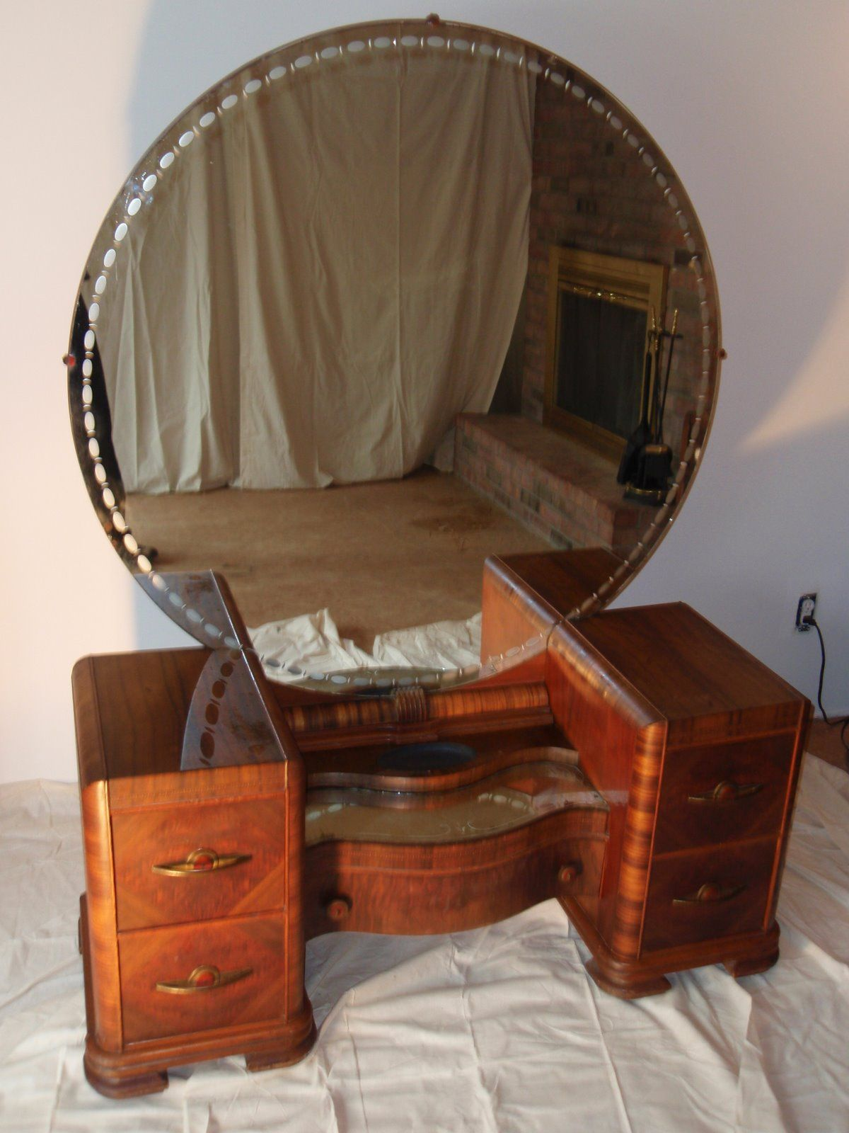 Antique Vanity Dresser With Round Mirror Bestdressers 2017