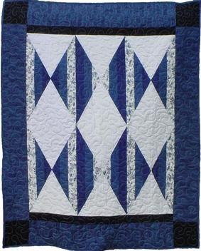 Striped Diamonds Quilt Pattern Download