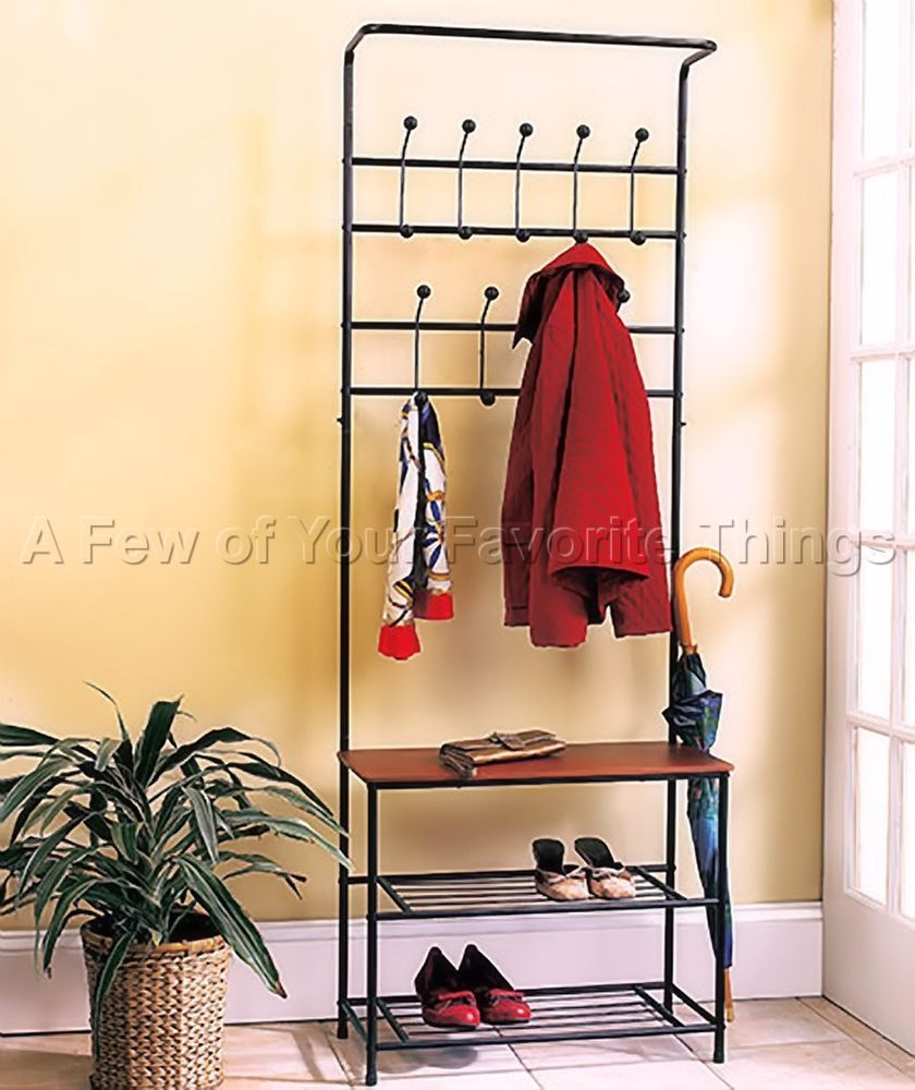entryway bench seat hat coat rack storage space shoe shelf organize home decor entryway bench. Black Bedroom Furniture Sets. Home Design Ideas
