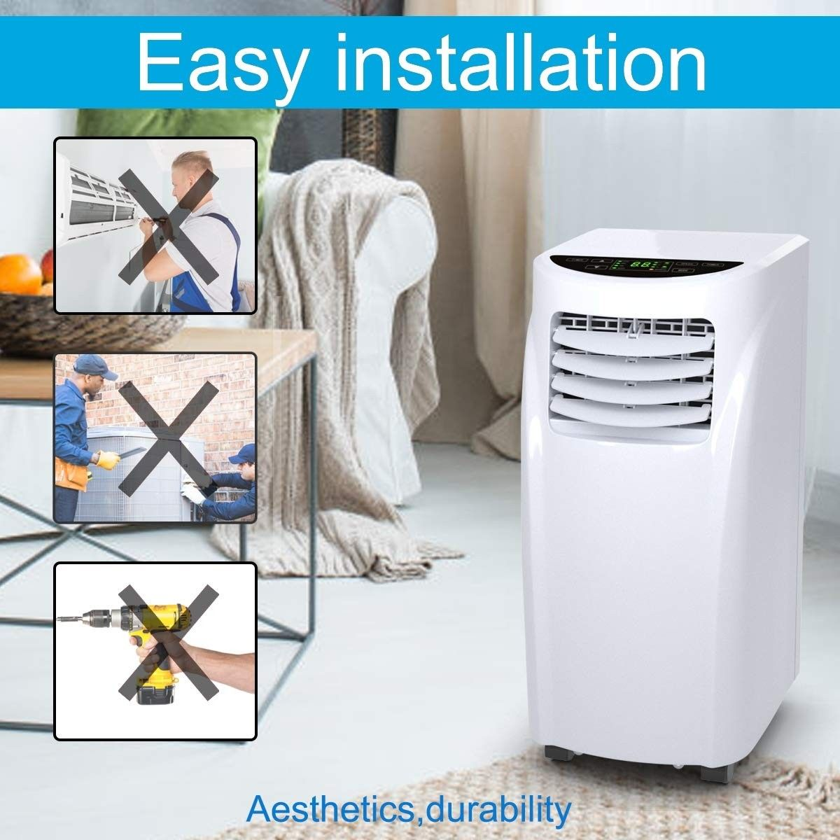 8 000 Btu Portable Air Conditioner Dehumidifier Portable Air Conditioner Dehumidifiers Air Conditioner Units