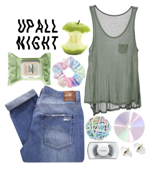 """up all night"" by gretamariaa ❤ liked on Polyvore featuring Nobody Denim, Fine Collection, Accessorize, Burt's Bees, MAC Cosmetics, Nordstrom, Hipster, Color and MyStyle"