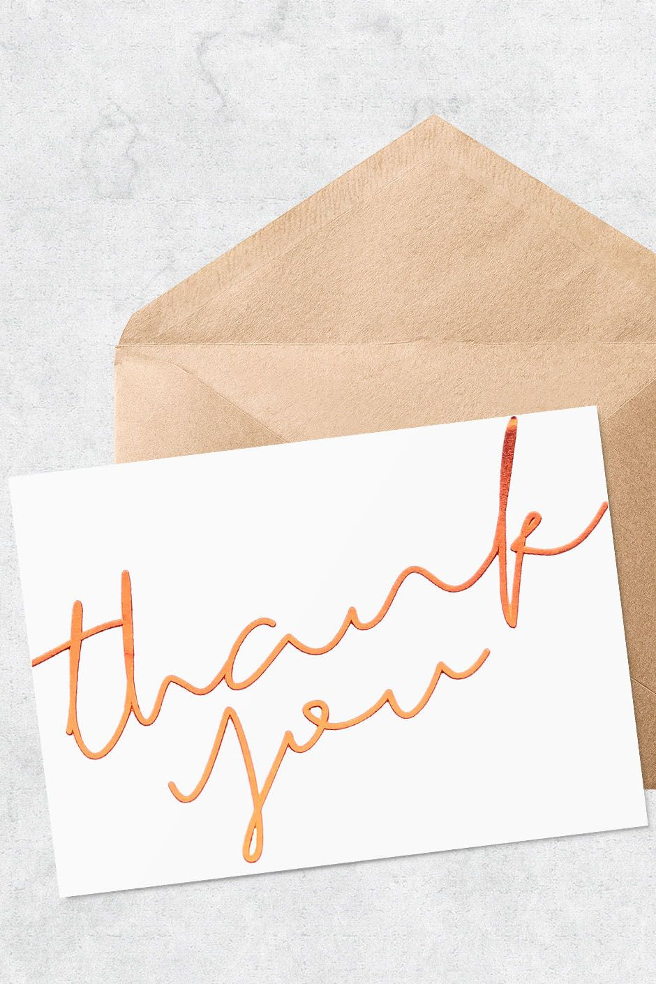 Thank You Cards Thank You Postcards Calligraphy Thank You