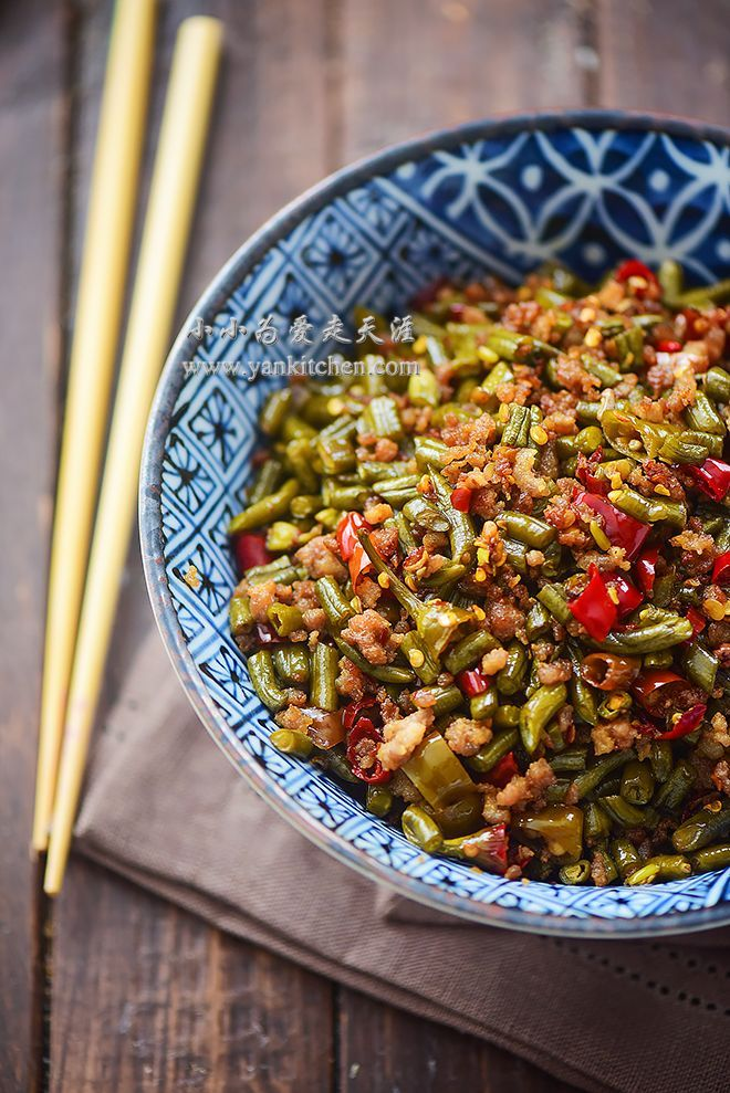 Stir fried sichuan style pickled string beans and ground pork stir fried sichuan style pickled string beans and ground pork forumfinder Images