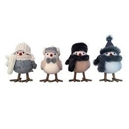 Frosted Forest Bird 4pk