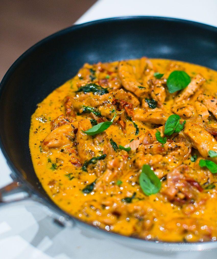 Lchf Pasta Med Kyckling Mozzarella Och Soltorkade Tomater Recept Kyckling Mozzarella Och Recept