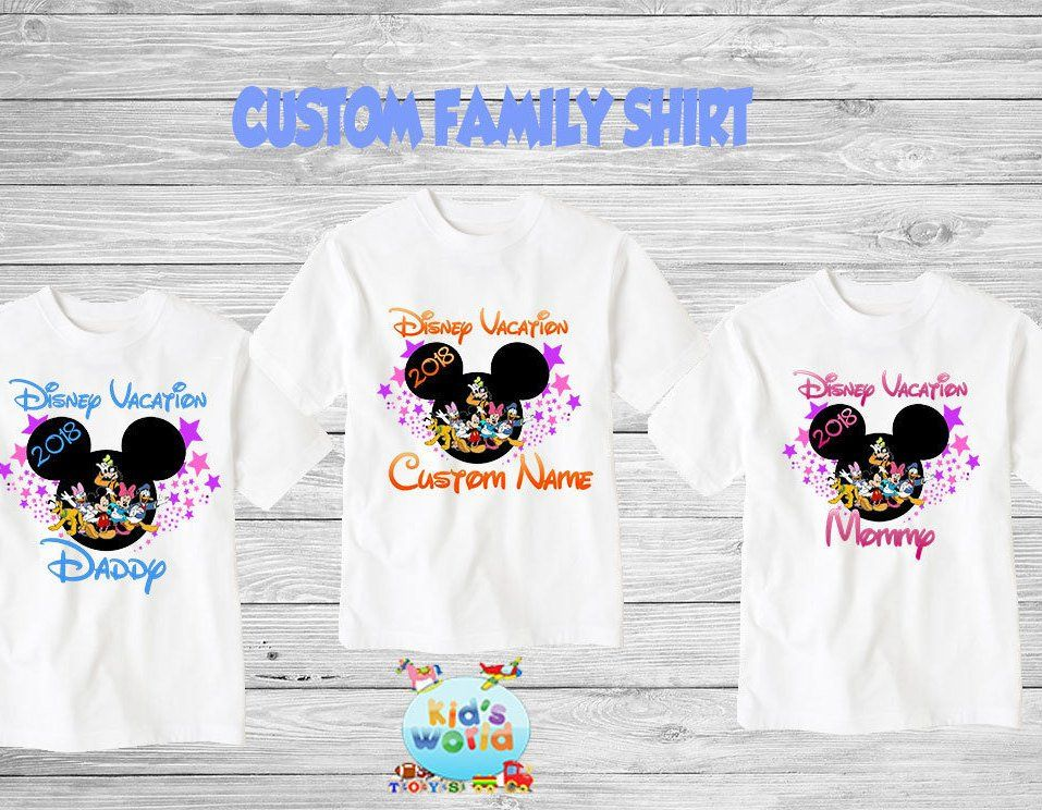 2ae84a3bf Family disney world shirts 2018, Disney Family Shirts, Matching Family  Disney Shirts, Personalized Disney Shirts for Family 2018 des34 by  KidsWorlds on Etsy