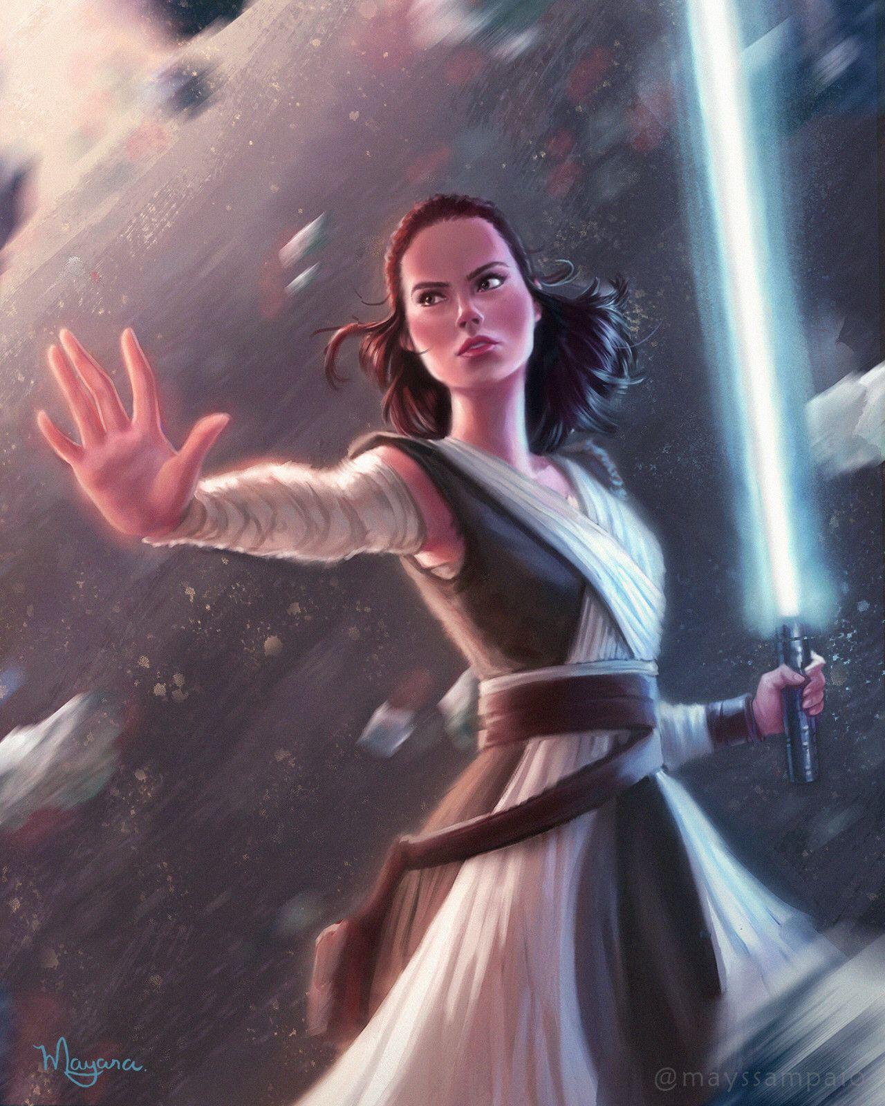 Rey Star Wars Starwars Starwarsart Starwarsfanart Rey Jedi Rey Star Wars Star Wars Fandom Star Wars Characters