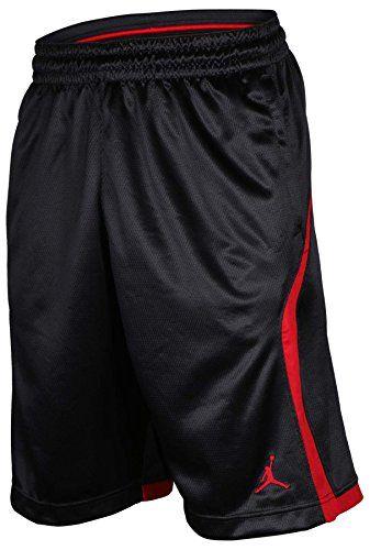 d181afbe065f4c Air Jordan Flight Knit Dri-Fit Basketball Shorts Black Red.  dansbasketball