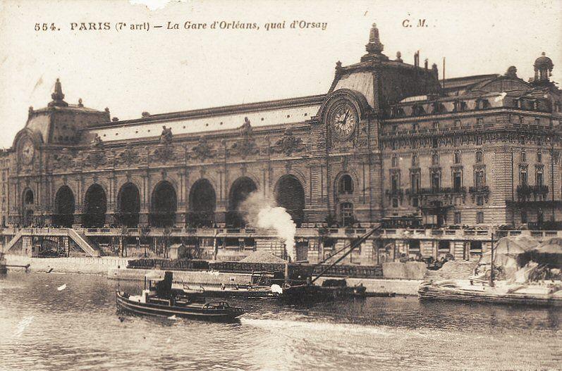 La gare d 39 orl ans ou gare d 39 orsay a t inaugur e en for Exterieur quai gare de l est