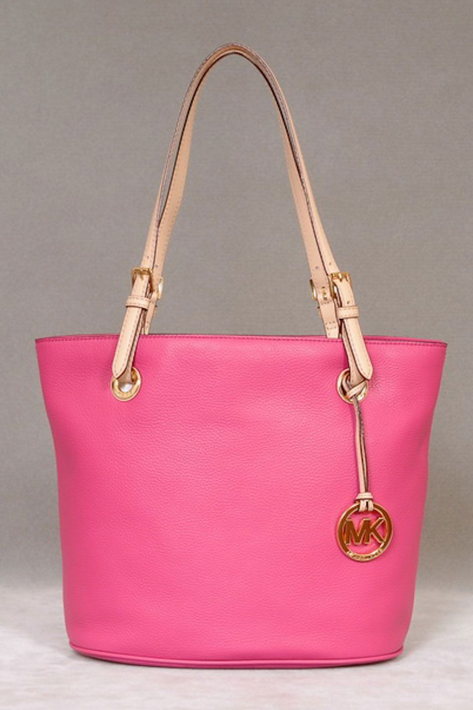Michael Kors Leather Tote in Hot Pink.  4432bd0c1f6b9
