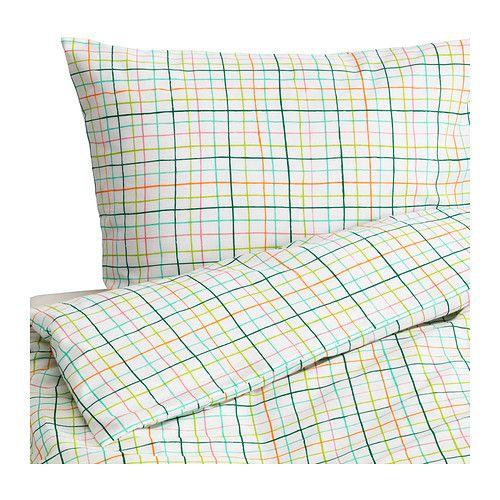ikea sommar 2015 housse de couette et taie 150x200 65x65 cm m lange polyester coton pour. Black Bedroom Furniture Sets. Home Design Ideas