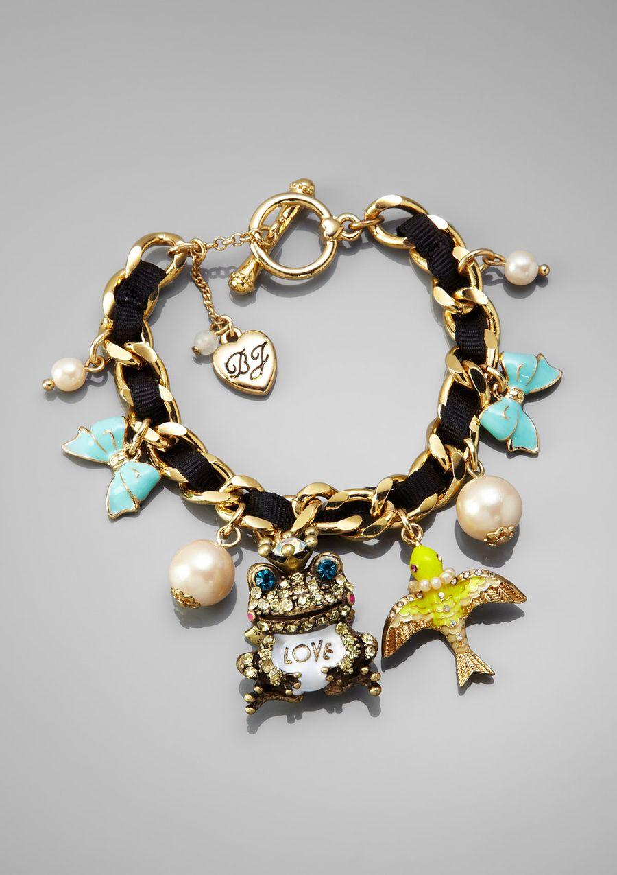 BETSEY JOHNSON Frog Charm Toggle Bracelet $29.99 | Adornments ...