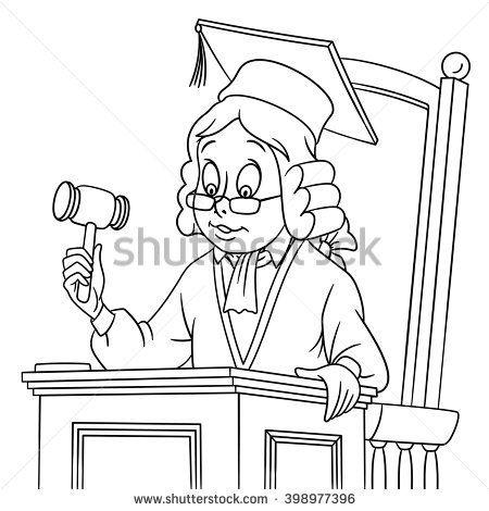 Юрист картинки для детей раскраска