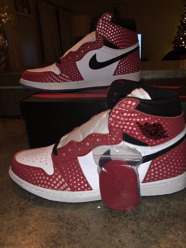 Ebay Link Nike Air Jordan 1 Retro High Og Origin Story Spider Man