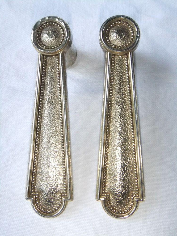 Poignée ancienne porte bouton porte métal doré marque styledécor