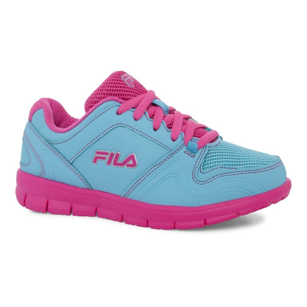 Fila Kid's Speed Runner Athletic Sneakers, Blue Synthetic, 3 Little Kid M