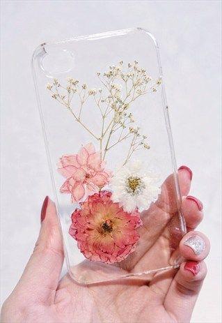 detailed look 820d9 ce114 Handmade Real Pressed Flowers Phone Case in 2019 | pressed flower ...
