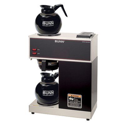 Bunn Vpr Commercial 12 Cup Pour Over Coffee Brewer With 2 Warmers 12 Cup Commercial Coffee Brewer With 2 Separately Contro Commercial Coffee Makers Pour Over Coffee Maker Commercial Coffee Machines