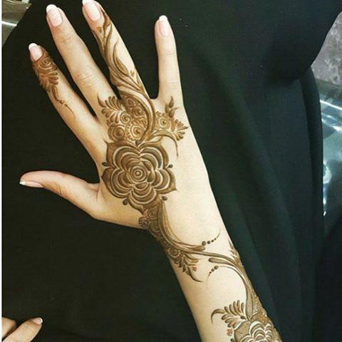 Henna Design Arabic Henna Patterns Rose Mehndi Designs Henna