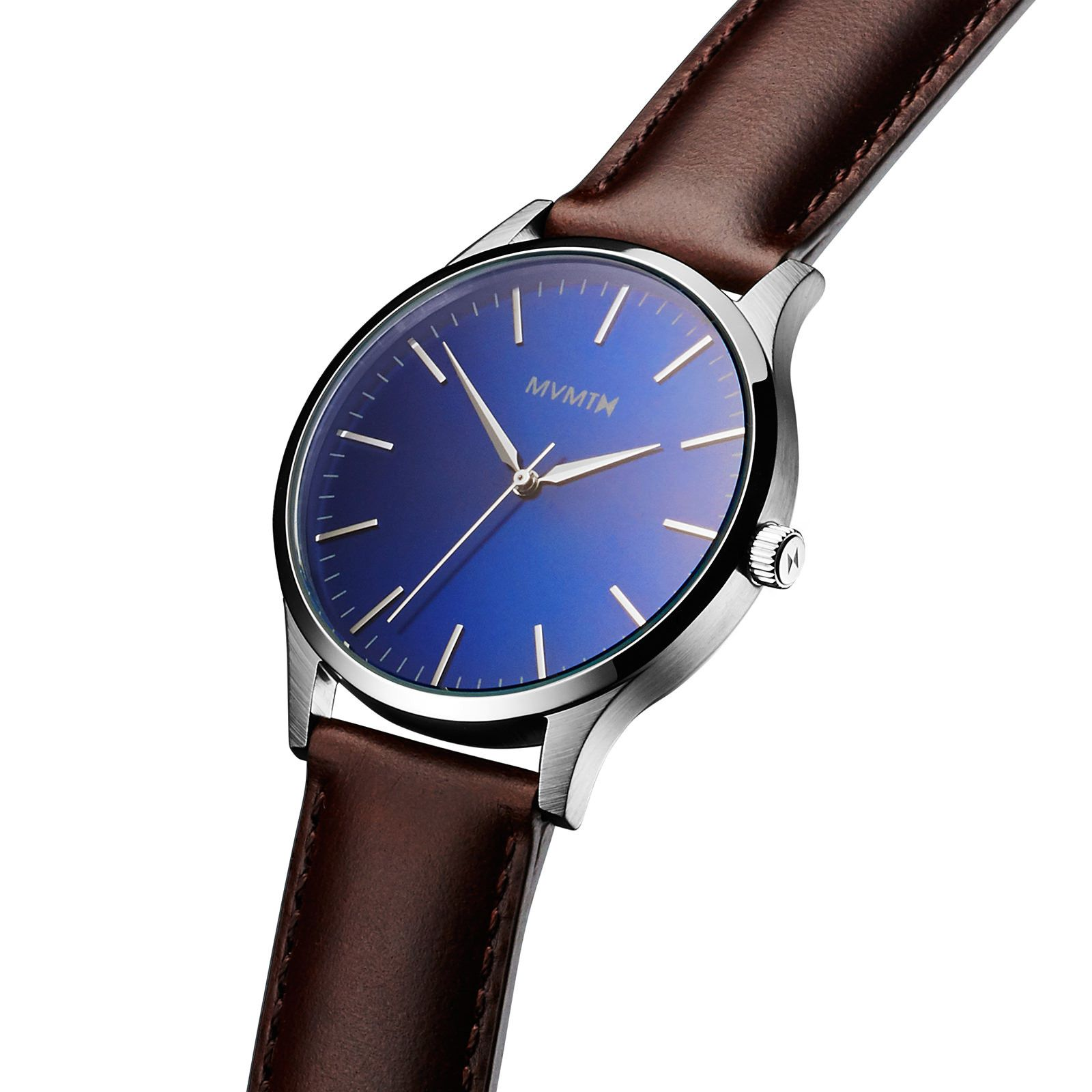 The 40 Blue Brown Mens Dress Watches Brown Leather Strap Watch Watches For Men [ 1600 x 1600 Pixel ]