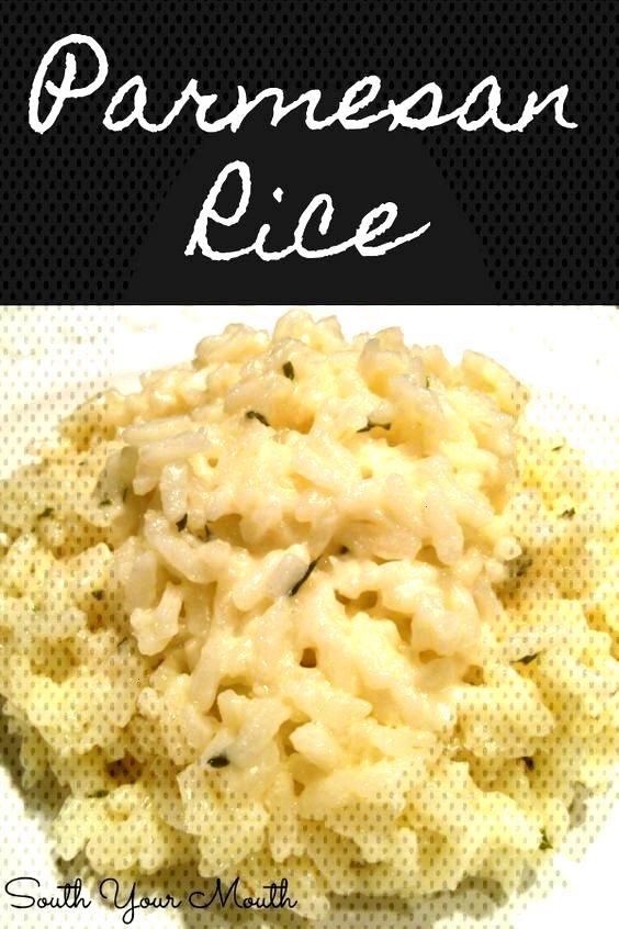 Creamy Parmesan Rice with garlic, butter and parmesan cheese. Like risotto but easy!