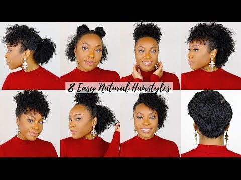 8 QUICK & EASY Hairstyles for Short/Medium Natural Hair | Perfect ...