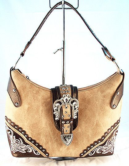 6575682b344b Concealed Carry Handbag Purse w  Crystal Buckle   Embroidery ...