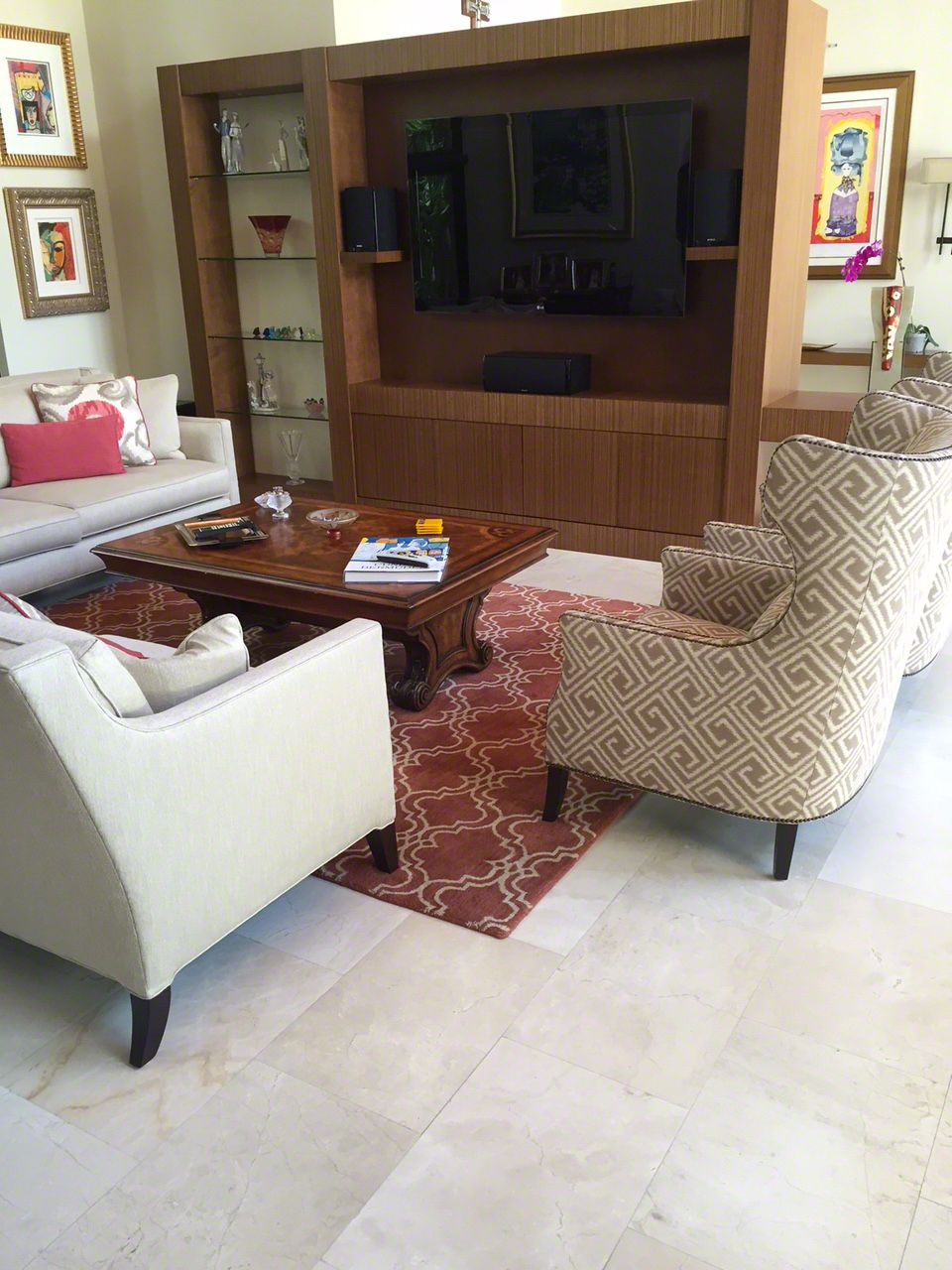 South Miami Residence Marmol Marble Floor Miami Residence Flooring