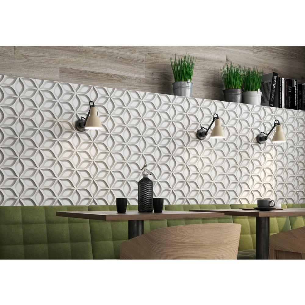 astrid grigio ceramic wall tile white