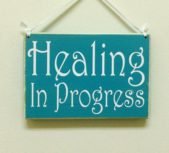 Healing In Progress Session Do Not Disturb Spa Salon 8x6 (Choose