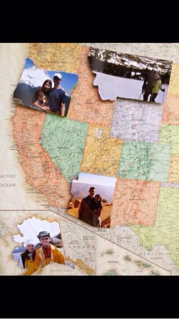 #couple #maps #travel cute couple travel idea! Maybe one day they will fill up all the space!