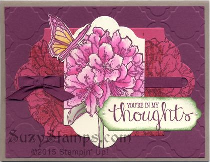 Stampin' Up! Cards - 2015-08 Class - Best Thoughts and You've Got This stamp sets, Modern Mosaic Embossing Folder and Lots of Labels Framelits