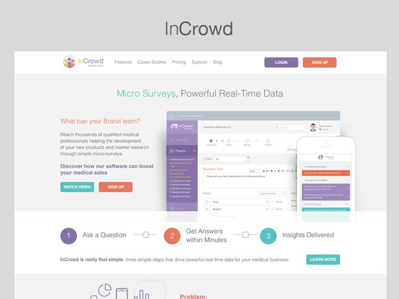 InCrowd Home Screen Design - by Mike Hince | #ui #webdesign | Web ...