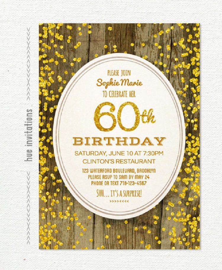 Gold Birthday Invitation Card Psd Template Free Download Party Ideas