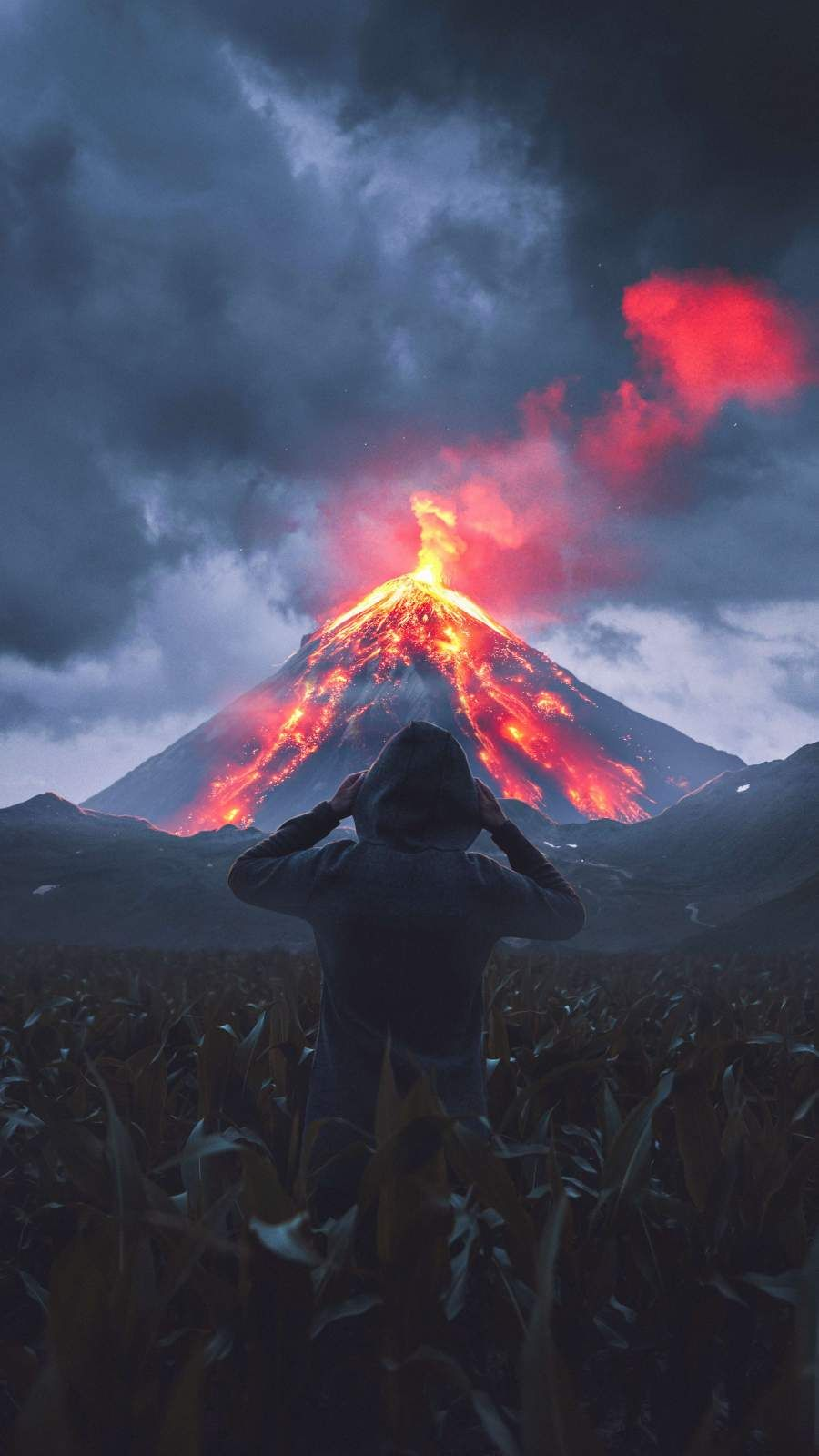 Download Volcanic Eruption Iphone Wallpaper Top Free Awesome