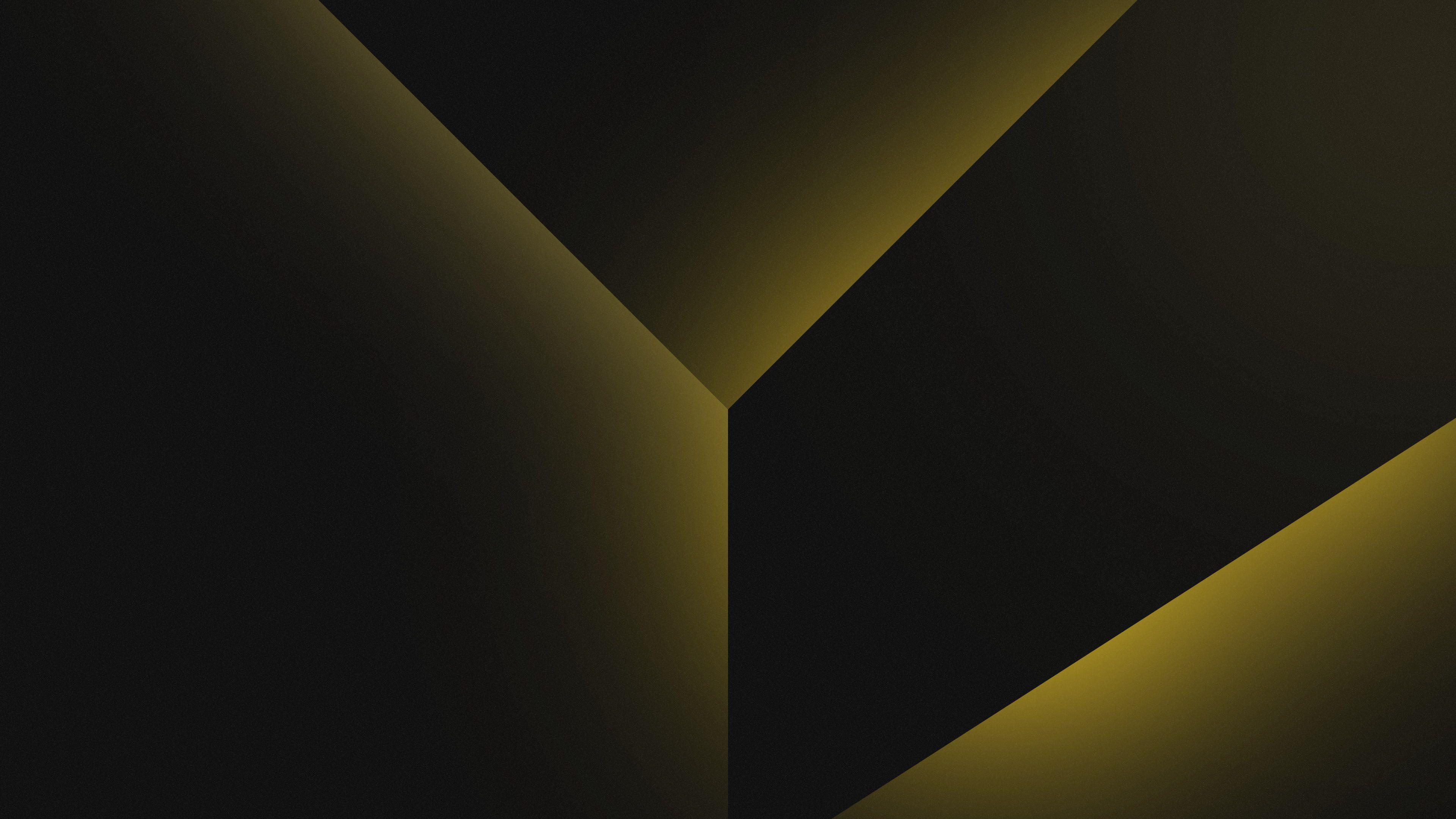 Geometric Gradient Black Yellow Shapes Dark Background 4k 4k Wallpaper Hdwallpaper Deskto Abstract Wallpaper Dark Wallpaper Dark Background Wallpaper