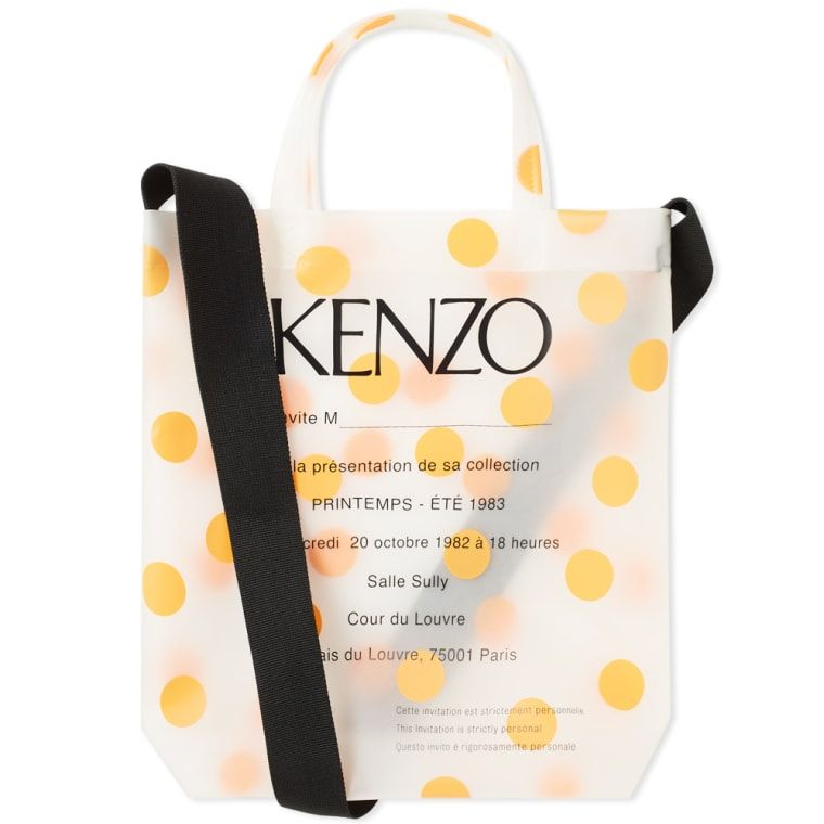 cfadf78051 Kenzo PVC Polka Dot Tote Bag Medium Orange 1 | Bag for rad in 2019 ...
