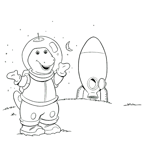 Barney Become An Astronaut | Barney Coloring Pages | Pinterest