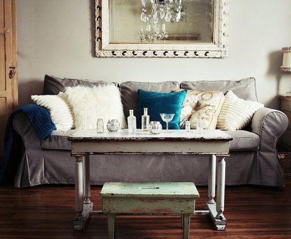 Custom Ikea Ektorp Sofa Slipcover 3 Seater In Rouge Ash Velvet Fabric Grey Sofa Living Room Ektorp Sofa Cover Ektorp Sofa