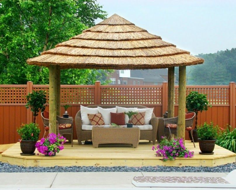 Thatched Roof For Gazebos Backyard Gazebo Backyard Garden Diy