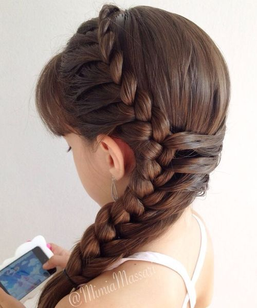 Braided Hairstyles 5 Ideas For Your Wedding Look: Side Braided Hairstyles 2016 For Little Girls