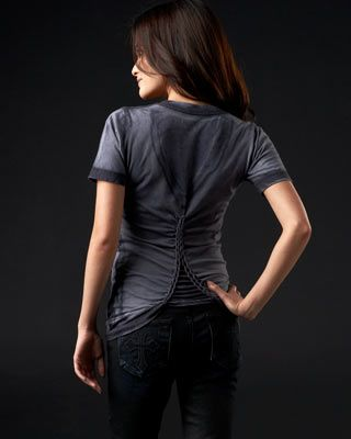 Affliction Love Hunter Baby Tee - AW2978- love the back to this shirt. so cool