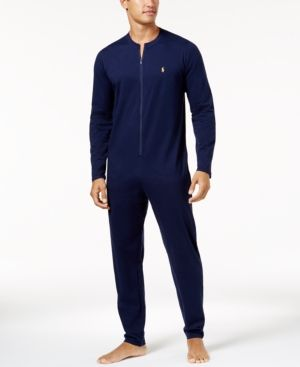 buy new lower prices where to buy Polo Ralph Lauren Men's Cotton Jumpsuit Pajamas - Navy XL ...